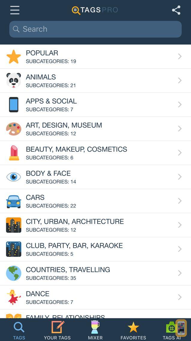 Screenshot - Hashtags for Likes - Tags Pro