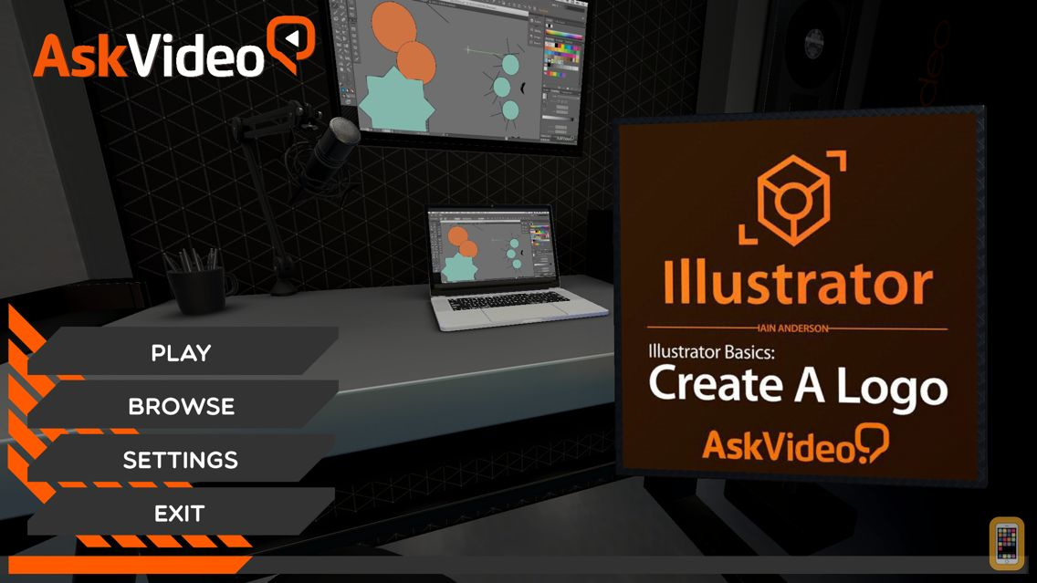 Screenshot - Course For Illustrator CC 101 - Illustrator Basics - Create A Logo