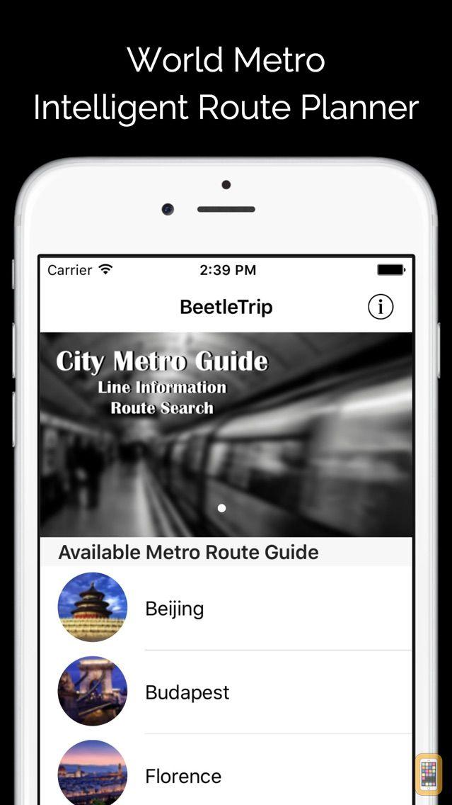 Screenshot - City Maps Offline - Metro Subway Train Transport Transit BeetleTrip Map and Route Planner