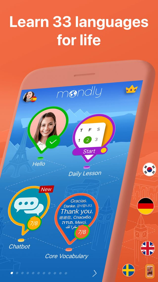 English In Italian: Mondly: Learn 33 Languages For IPhone & IPad