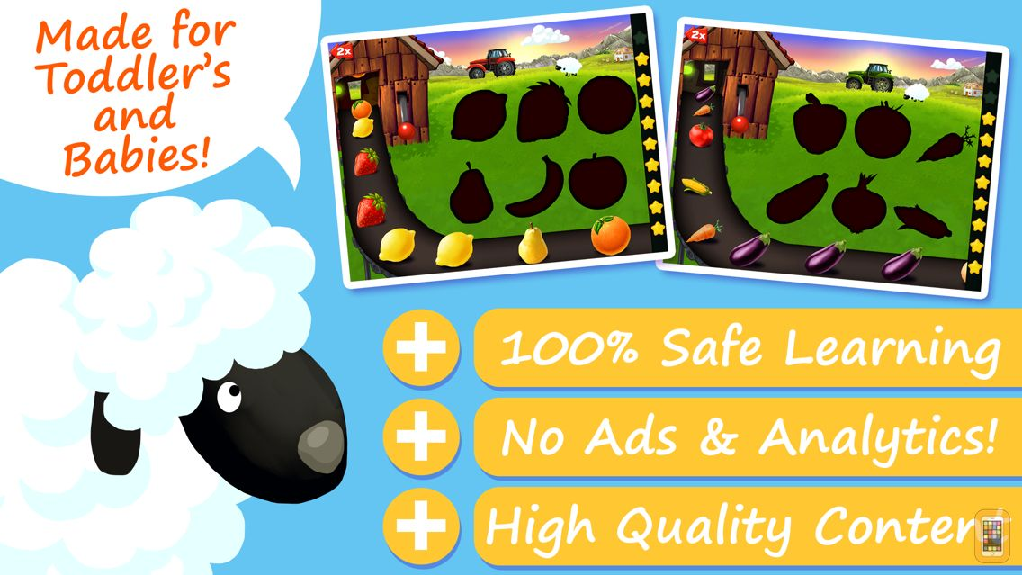 Screenshot - My Shapes & Colors Farm Puzzles - The Funny Basic Forms Learning Puzzle App for Babies and Toddlers