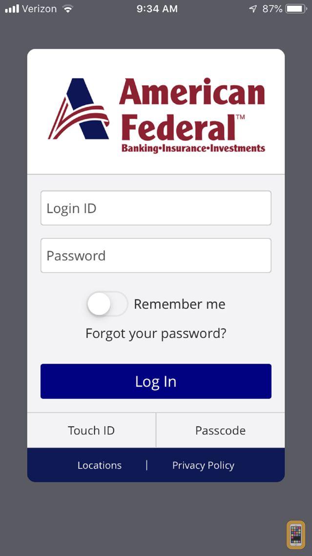 Screenshot - American Federal Bank