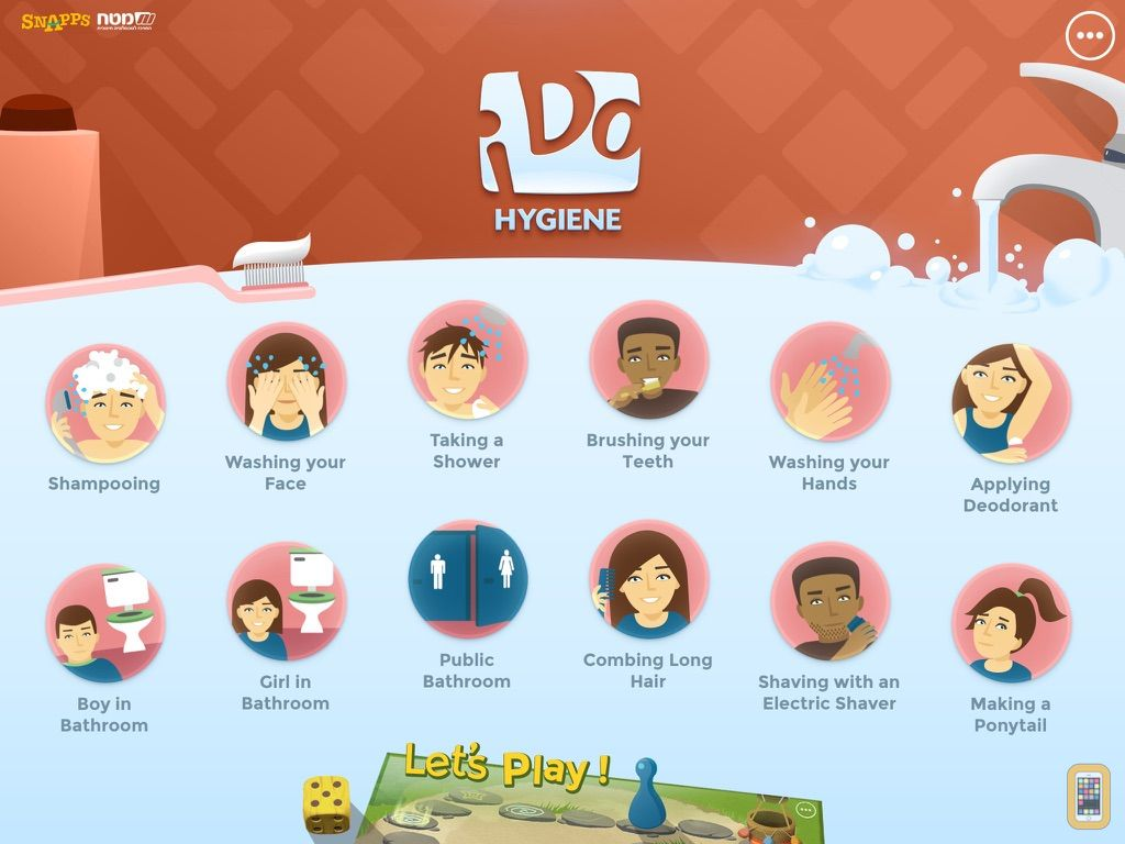 Screenshot - iDo Hygiene –Daily life skills activities, for individuals with special needs (full version)